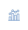 business chart bar graph line icon concept vector image vector image