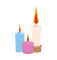 candle icon image vector image vector image