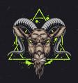capricorn zodiac sign vintage concept vector image vector image