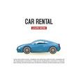 car rental modern blue vector image