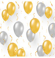 celebration design with gold balloons confetti vector image vector image