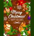 christmas celebration gifts greeting card vector image vector image