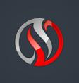circle balance swirl abstract business logo vector image