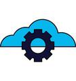 cloud computing gear setting vector image vector image