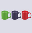 colorful coffee cups isolated realistic 3d vector image vector image