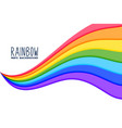 colorful wavy rainbow flow background vector image vector image