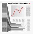 Conceptual blank - monochrome infographics design vector image