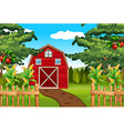 Corn and apples on the farm vector image vector image