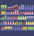 cosmetic supplies in the supermarket vector image