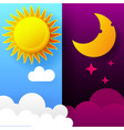 day and night day night concept vector image