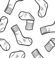 doodle socks pattern seamless vector image vector image