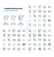 feedback survey outline icons collection vector image vector image
