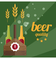 flat design of beer theme vector image vector image