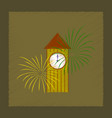 flat shading style icon christmas clock vector image vector image