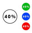 forty percent icon vector image vector image