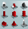 gas color gradient isometric icons vector image