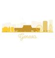 Geneva City skyline golden silhouette vector image vector image