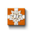 gift box top view isolated template vector image vector image