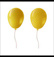 gold glitter party balloons isolated vector image