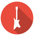 guitar icon with a long shadow vector image
