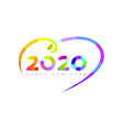 happy new year 2020 modern bright 2020 text vector image vector image
