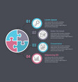 infographic template with puzzle circles vector image vector image