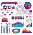 infographics elemetns collection vector image vector image