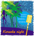 Karaoke night abstract of a microphone and dancers vector image
