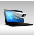 Laptop web security vector image vector image