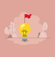 light bulb with flag vector image vector image