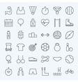 Line Sport and Fitness Icons Set vector image vector image