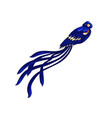 long-tailed weaver exotic bird icon vector image