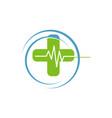 medical logo concept and idea vector image vector image