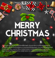 merry christmas with gift box vector image vector image