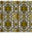modern baroque seamless pattern gold ornamental vector image vector image
