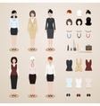 Office women set vector image vector image
