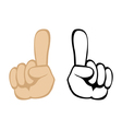 pay attention handgesture vector image vector image