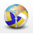 Planet Earth inside volleyball ball vector image vector image