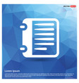 report list icon vector image