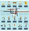 Road worker infographic vector image