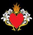 sacred heart jesus beautiful red ornamental vector image