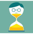 Sand Time Man vector image vector image
