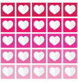Seamless ombre pattern with hearts - Valentines vector image