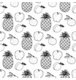 seamless pattern with image fruit vector image