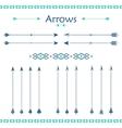 set different arrows vector image