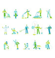 set gardeners or farmers characters working vector image