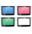 set of lcd screens vector image vector image