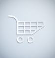 shopping cart paper vector image