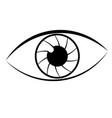 simple eye lineart vector image vector image