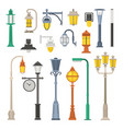 street lamps and lamp posts vector image vector image